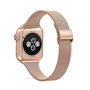 Недорогие Ремешки для Apple Watch-Миланский ремешок для Apple Watch 6 SE 5 4 3 2 1 44 мм 42 мм 40 мм 38 мм сменный ремешок из нержавеющей стали