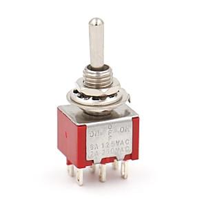 ieftine Întrerupătoare-5 buc mts-223 ac 2a 250v 6 pini comutator basculant pornit / oprit / pe spdt
