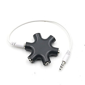 ieftine Audio & Video-adaptor audio pentru căști vocale distribuitor audio hexagon 3.5mm distribuitor audio căști extensie pentru cablu 3.5 jack adaptor audio