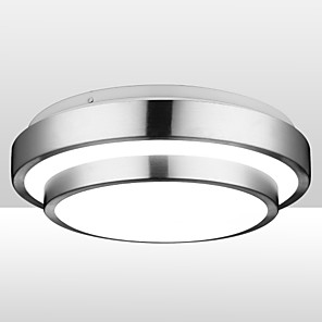 1-lys 30 cm led innfeltlamper aluminium elektroplettert 90-240v