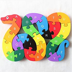 ieftine Puzzle-1 pcs Șarpe Puzzle Adorabil Confecționat manual Interacțiunea părinte-copil De lemn Copilului Jucarii Cadou