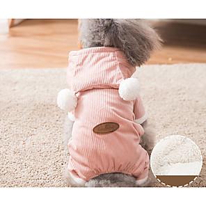ieftine Imbracaminte & Accesorii Căței-Câini Pisici Pulovere Iarnă Îmbrăcăminte Câini Albastru Roz Costume Bumbac Mată Keep Warm Timp Liber stil minimalist S M L XL XXL