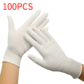 ieftine Produse de curățat-100pcs mănuși din latex de unică folosință mănuși de cauciuc mănuși de curățare mănuși de lucru