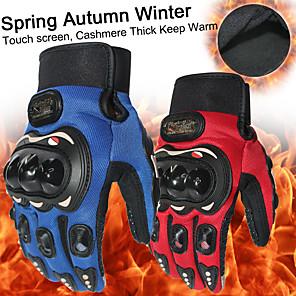 ieftine Mănuși de Motociclist-nou gros păstrează cald mănuși de motociclete cu deget complet motocross luvas gants guantes moto unelte de protecție negru albastru roșu culoare