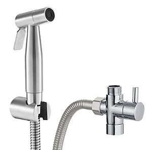 ieftine Robinete-pulverizator de scutec premium din stofă de calitate oțel inoxidabil - toaletă bidet din oțel inoxidabil&pulverizator toaletă, fixare de mână fără scurgeri