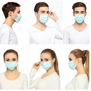 povoljno Pribor za čišćenje-50 pcs 3-Layer Maska za lice Vodootporno Za jednokratnu upotrebu Protection 3 sloja Na lageru Nonwoven Fabric CE Certifikat Anti-Magla Prijenosno Protiv prašine Uniseks Plava