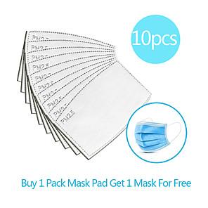 povoljno Pribor za čišćenje-10pcs karbon filtar za jednokratnu upotrebu maska brtva izolacijski filter jastučić protiv magle prozirna maska prozračna maska zamjenski jastučić posteljina pamuk mješavina jastučić