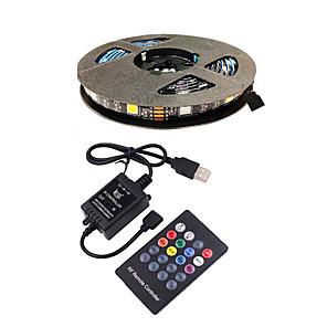 ieftine Set Becuri-3m tv bandă de fundal lumină benzi cu leduri flexibile benzi rgb benzi 90 leds smd5050 10mm 1 24keys telecomandă 1 set multicolor impermeabil usb autoadeziv 5 v