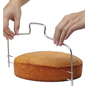 abordables Gadgets & Ustensiles de Cuisine-1pc Coupe Gâteau Ajustable Rectangulaire Acier inoxydable Ustensiles de Cuisine & Pâtisserie Pain