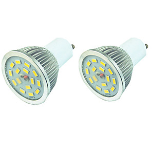 ieftine Spoturi LED-2pcs 5 W Spoturi LED 400 lm GU10 15 LED-uri de margele SMD 5730 Intensitate Luminoasă Reglabilă Alb Cald Alb 220-240 V