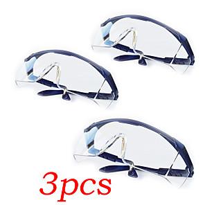 ieftine Binocluri-3 buc ochelari de protecție scut protector ochelari transparenti protecția ochilor anti praf ochelari saliva echipamente de siguranță în aer liber