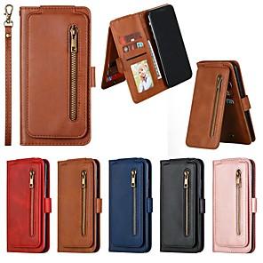 Недорогие Кейсы для iPhone-чехол для iphone 11 / iphone 11 pro / iphone 11 pro max кошелек / держатель карты / противоударный чехол для всего тела сплошной кожаный чехол для iphone xs max / xr / iphone 8 plus / iphone 7 plus /