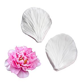 ieftine Ustensile & Gadget-uri de Copt-dublu față bujor floare veiner mucegai fondant tort mucegai silicon