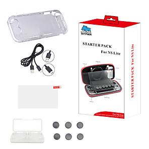 ieftine Accesorii Nintendo Switch-kit de pornire complet pentru ns lite cu sticlă temperată cu carcasă casetrită, capac pentru carduri de capac pentru carduri și mai multe accesorii ect