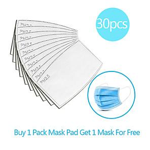 povoljno Pribor za čišćenje-30pcs karbon filtar za jednokratnu upotrebu maska brtva izolacijski filter jastučić protiv magle prozirna maska prozračna maska zamjenski jastučić posteljina pamuk mješavina jastučić