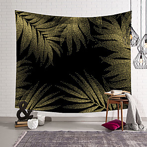 baratos Decoração de parede-5 tamanhos planta tropical tapeçaria floral tapeçaria de poliéster fino bohemia cactus banana leaf print tapeçaria toalha de praia almofada