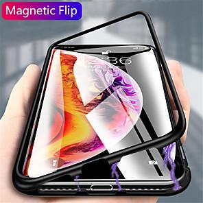 povoljno iPhone maske-Θήκη Za Samsung Galaxy S20 Plus / S20 Ultra / S20 S magnetom Stražnja maska Jednobojni Kaljeno staklo / Metal