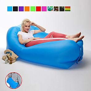 ieftine Lenjerie Pat Tabără-21Grams Canapea cu Aer Saltea Pneumatică Cană gonflabilă Tetiera în formă de pătrat În aer liber Camping Impermeabil Portabil Rapidă gonflabilă Proiectarea cu scurgeri de aer Oxford 230*70 cm pentru
