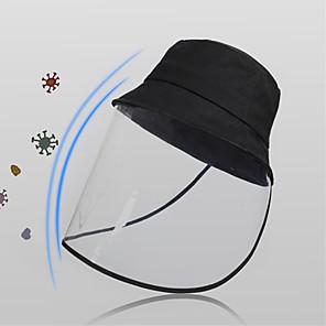 ieftine Masca-protecție completă față anti-ceață salivă pălărie de protecție solară bicicletă transparentă uv protecție pălărie de blocare față pălărie