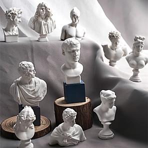 ieftine Breloage-10 bucăți / set schiță cap statuă din ghips bust mini statuie ghips linie desenat predare rășină artă artizanală afișare