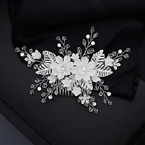 ieftine Piepteni-Pentru femei Piepteni de Păr Pentru Nuntă Aniversare Cadou Oficial Cristal Ștras Aliaj Argintiu 1 buc