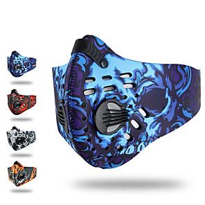 ieftine Cagule și măști pentru față-XINTOWN Mască sport Face Mask Rezistent la Vânt Căptușeală Din Lână Respirabil Limită Bacterii Κατά του ιδρώτα Bicicletă / Ciclism Rosu Portocaliu Albastru pentru Unisex Ciclism / Biciclet / Strech