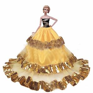 ieftine Haine Păpușă Barbie-Accesorii pentru papusi Haine de Păpușă Rochie de papusa Rochie de mireasă Petrecere / Seară Nuntă Rochie De Bal Paiete Tul Dantelă Poliester Pentru păpușă de 11,5 inci Jucărie făcută manual pentru