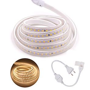 povoljno LED trakasta svjetla-LED traka 5m 120led / m smd 2835 led svjetlosna traka ac 220v s utikačem ip65 vodootporna svijetla svjetla