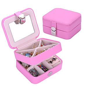 ieftine Cutie de bijuterii și afișaj-Cutie de bijuterii - Piele Roz 11 cm 9 cm 5 cm / Pentru femei