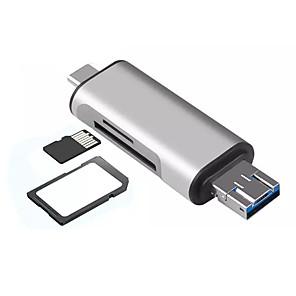 povoljno Punjači za auto-5 u 1 tip c otg čitač kartica s USB ženskim sučeljem za pc usb2.0 read tf čitač memorijskih kartica adapter za računalo