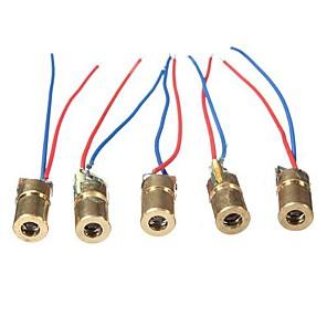 ieftine LED-uri-dc 5v 5mw 650nm 6mm laser punct diodă modul roșu tub de cupru