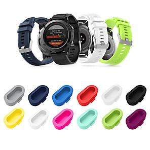 hesapli Smartwatch Kılıfları-10 paket silikon toz fiş için uyumlu garmin vivoactive 3 / vivoactive 3 müzik / vivoactive 3 eğitmen garmin fenix 5/5 artı / 5 s / 5 s artı / 5x / 5x artı / öncüsü 935