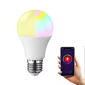 ieftine Becuri LED Glob-led wifi smart bulb ball rgb culoare de culoare întunecare bec bec rgb e27 b22 e26 1 pachet