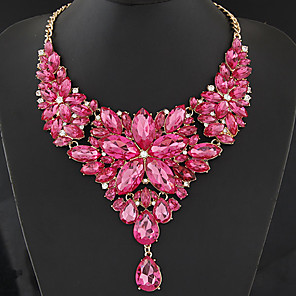ieftine Colier la Modă-Pentru femei Coliere Pară Picătură femei European Modă Reșină Hârtie Reciclabilă Plastic Inima rosie Coliere Bijuterii Pentru Petrecere Zilnic