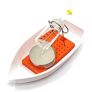 hesapli Ekran Modelleri-Bilim Deney Oyuncak Buharlı Mum Gemi Kendin-Yap El-yapımı Ebeveyn-Çocuk Etkileşimi Plastik Kabuk Genç Genç Erkek Genç Kız Oyuncaklar Hediye 1 pcs