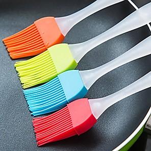 ieftine Ustensile & Gadget-uri de Copt-2 buc bucătărie cu temperatură ridicată perie pentru grătar instrumente ușor de curățat ustensile de bucătărie din silicon moale