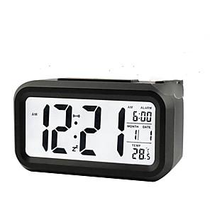 ieftine Lumini & Gadget-uri LED-data de temperatură digitală lunară mai lungă indică lumina de noapte pentru snooze cu alarmă