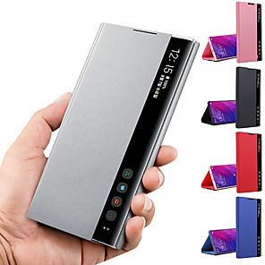 Недорогие Чехол Samsung-Кожаный чехол для Smart View для Samsung Galaxy A51 A71 A01 A50 A70 A80 A90 A60 A40 A30 A20 A10 A20E A7 2018 A9 2018 Ясный вид Подставка для окна