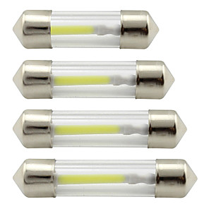 ieftine Lumini de Interior Mașină-31mm 36mm 39mm 41mm 1cob c5w led lumină cupole luminoasă 12v cc led auto lumini de citire lumini portbagaj bec alb / cald alb / albastru 2buc