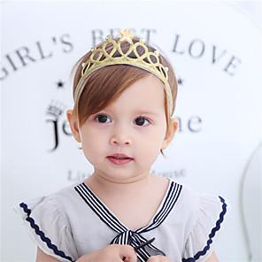 ieftine Kit-uri de Bijuterii-Material Textil Cordeluțe Durag Copii Nod Funda Elasticity Pentru Bebeluș nou Concediu Stilat Activ Argintiu Auriu