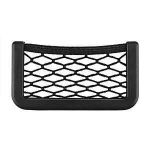 levne Organizátoři aut-univerzální autosedačka boční zadní úložná síť taška držák telefonu kapesní organizér černý