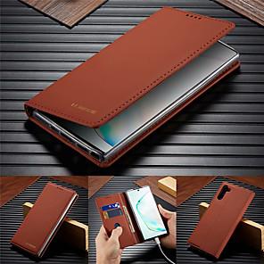 Недорогие Чехол Samsung-Роскошный кожаный флип кошелек чехол для Samsung Galaxy Note 10 Pro Note 9 Примечание 8 крышка подставки для магнитной карты