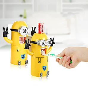 hesapli Banyo Gereçleri-Karikatür diş fırçası tutucu tembel otomatik diş macunu sıkacağı karikatür diş fırçası bardak yaratıcı çocuk yetişkin yıkama seti
