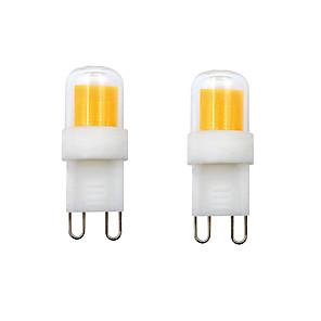 ieftine Becuri LED Bi-pin-2pcs 2 W Becuri LED Bi-pin 400-450 lm G9 E12 1 LED-uri de margele COB Alb Cald Alb Rece