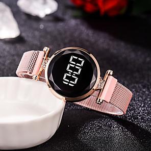 ieftine Inel Ceas-Pentru femei Quartz Quartz Stl Împletit Lux Ceas Casual Analog Negru Albastru piscină Roșu-aprins