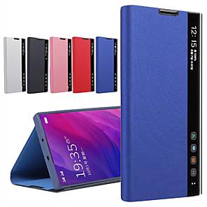 Недорогие Чехол Samsung-Чехол Smart View для Samsung Galaxy S20 Ultra S10 Plus S9 S8 Plus Note 10 Pro Note 9 Note 8 Ясный чехол с подставкой для окон