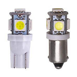 ba9s bax9s t10 led bilinnvendig lampe blub 12v instrument signallys 5050 smd panel dashbordlampe hvit varm hvit 2stk