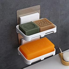 ieftine Gadget Baie-2 buc bucătărie de duș cutie de săpun platou de depozitare farfurie suport tăvi carcasă săpun săpun de menaj organizatori containere
