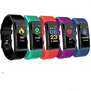 id115 pluss smart armbånd Bluetooth fitness tracker support varsle / pulsmåler vanntett sports smartwatch kompatibel samsung / iphone / android telefoner