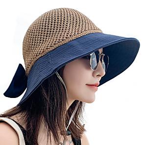 ieftine Pălării, Șepci & Bandane-Pentru femei Căciulă Soare Pălărie de pescuit Pălăria pescăresc Καπέλο πεζοπορίας 1 piese Vară Iarnă În aer liber Portabil Cremă Cu Protecție Solară Rezistent la UV Respirabil Pălării Peteci Bumbac